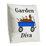 Garden Diva Burlap Throw Pillow