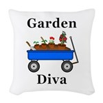Garden Diva Woven Throw Pillow