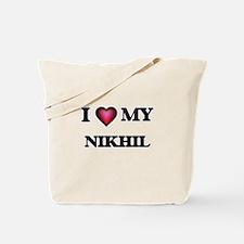 I love Nikhil Tote Bag
