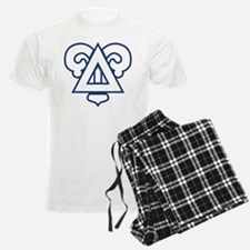 Delta Upsilon Badge Pajamas