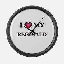 I love Reginald Large Wall Clock