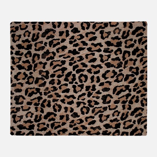 Cute Cheetah fur Throw Blanket