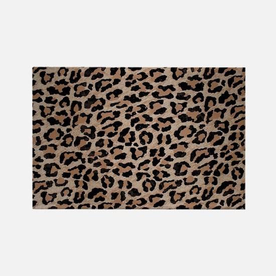 Unique Leopard print Rectangle Magnet