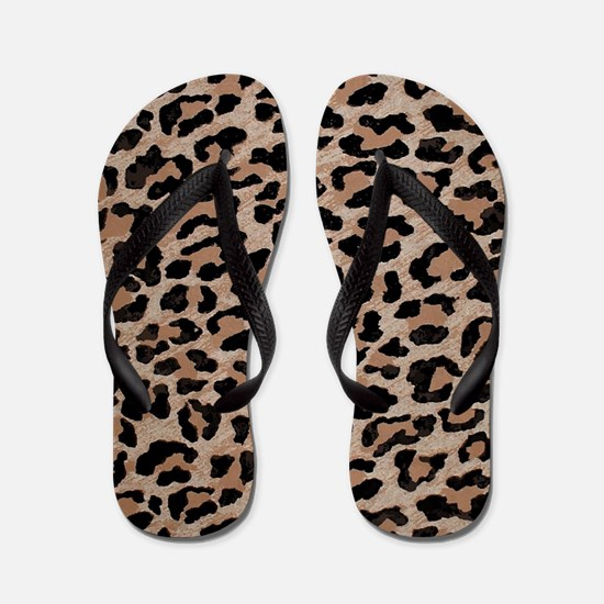 cheetah leopard print Flip Flops