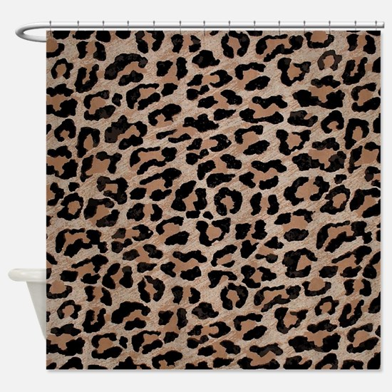 cheetah leopard print Shower Curtain