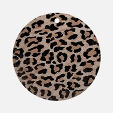 cheetah leopard print Round Ornament