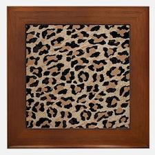 cheetah leopard print Framed Tile