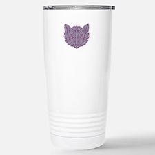 Fox Head Mono Line Travel Mug
