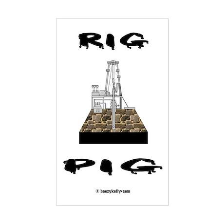 Rig Pig Rectangle Sticker