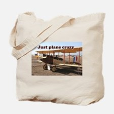 Just plane crazy: Curtiss Jenny Biplane A Tote Bag
