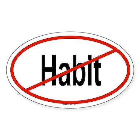 HABIT Oval Sticker