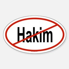 HAKIM Oval Decal