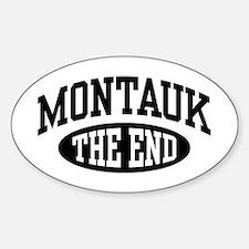 Montauk The End Sticker (Oval)