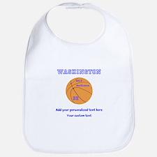 Basketball Personalized Baby Bib