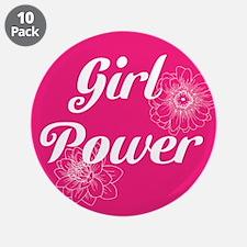 "Girl Power, 3.5"" Button (10 pack)"