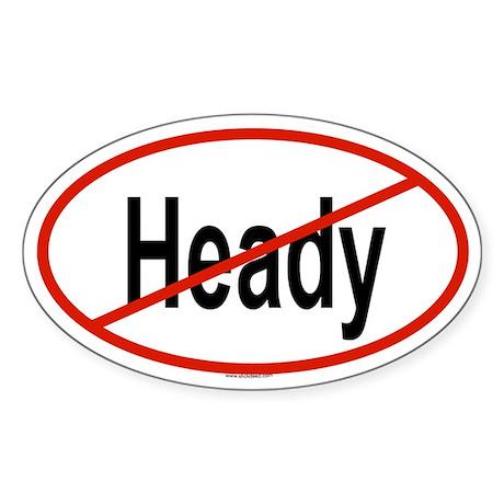 HEADY Oval Sticker