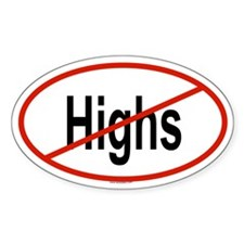 HIGHS Oval Decal