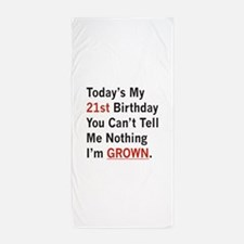 Im GROWN Beach Towel