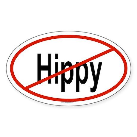 HIPPY Oval Sticker