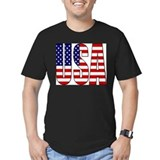 Usa Fitted T-shirts (Dark)