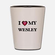 I love Wesley Shot Glass