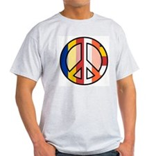 Buddhism Peace Symbol Ash Grey T-Shirt