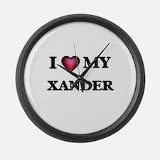 I love Xander Large Wall Clock