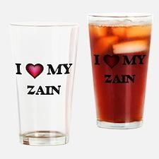 I love Zain Drinking Glass