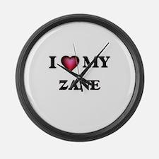 I love Zane Large Wall Clock