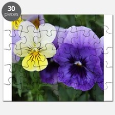 Italian Purple and Yellow Pansy Flowers Puzzle