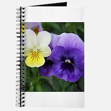Italian Purple and Yellow Pansy Flowers Journal