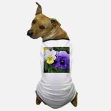 Italian Purple and Yellow Pansy Flowers Dog T-Shir