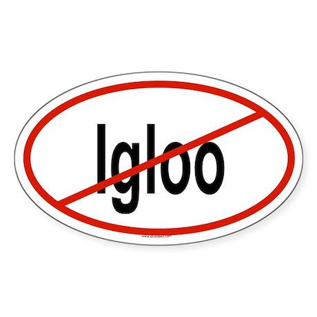 IGLOO Oval Sticker