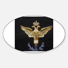 Cute Albanian two headed eagle Sticker (Oval)