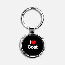 Goat Round Keychain