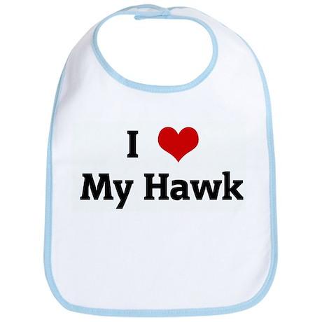 I Love My Hawk Bib