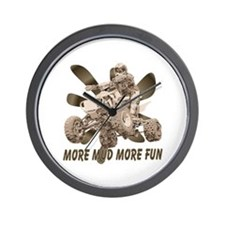More Mud More Fun on an ATV Wall Clock