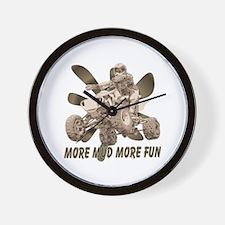 More Mud More Fun on an ATV Wall Clock