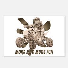More Mud More Fun on an ATV Postcards (Package of