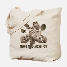 More Mud More Fun on an ATV Tote Bag