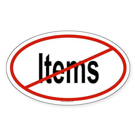 ITEMS Oval Sticker