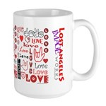 Love Words and Hearts Large Mug