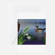Wood Duck Pond Greeting Cards