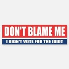 Dont Blame Me Bumper Car Car Sticker