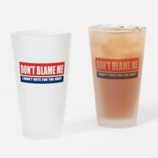 Dont Blame Me Drinking Glass