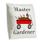 Master Gardener Burlap Throw Pillow