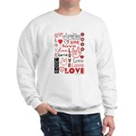 Love Words and Hearts Sweatshirt