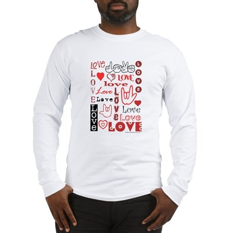 Love Words and Hearts Long Sleeve T-Shirt