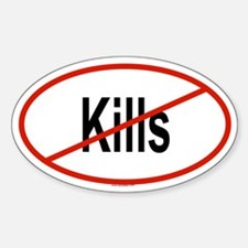 KILLS Oval Decal