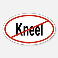 KNEEL Oval Decal